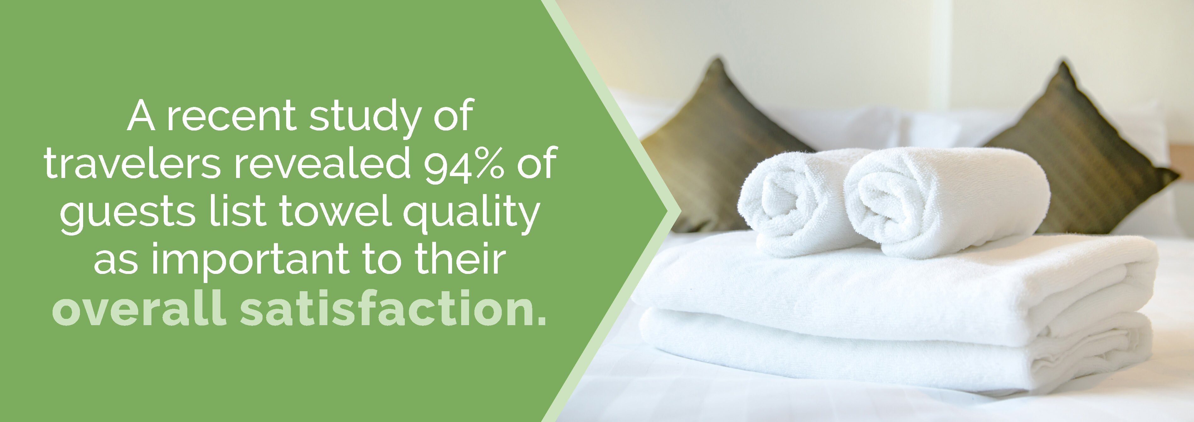 Guests list towel quality as important to their overall satisfaction.