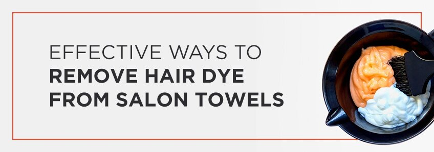 remove hair dye from towels
