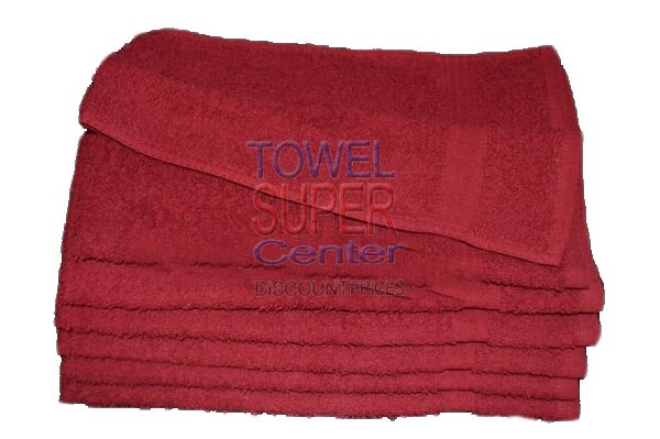 Premium Burgundy Hand Towels Wholesale