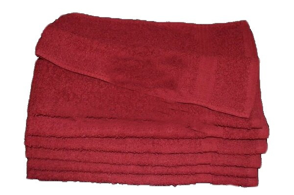 100% Cotton Premium Wholesale Burgundy Hand Towels