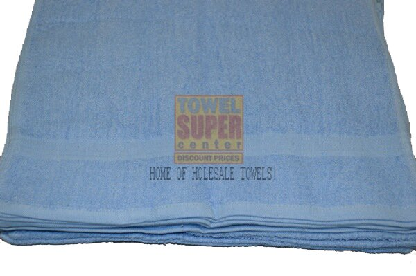 Premium Medium Blue Hand Towels Wholesale