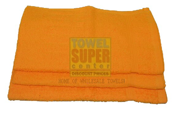 Premium Orange Hand Towels Wholesale