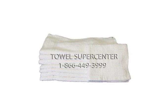 Premium Plus 100% Cotton Wholesale White Hand Towels
