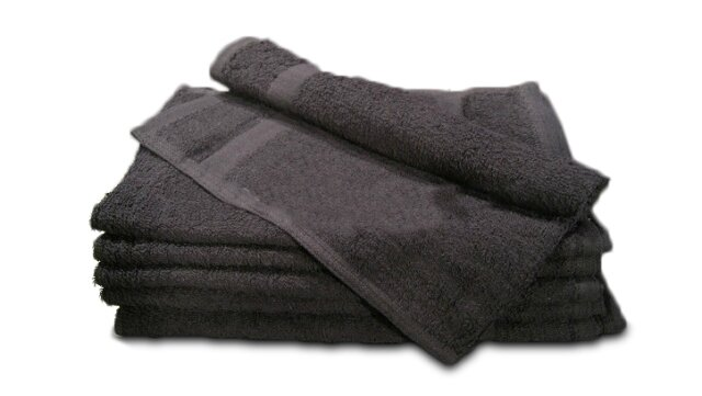 100% Cotton Wholesale Premium Black Hand Towels