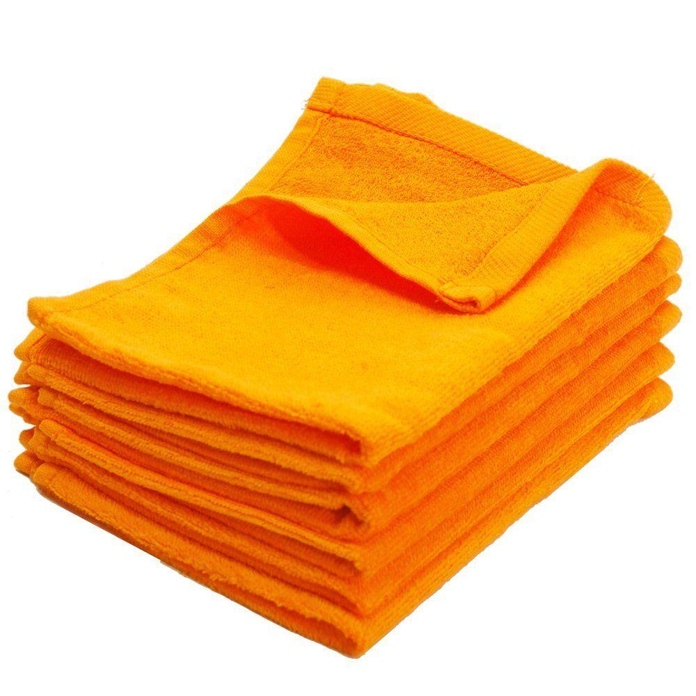 11X18 Wholesale Orange Fingertip Towels
