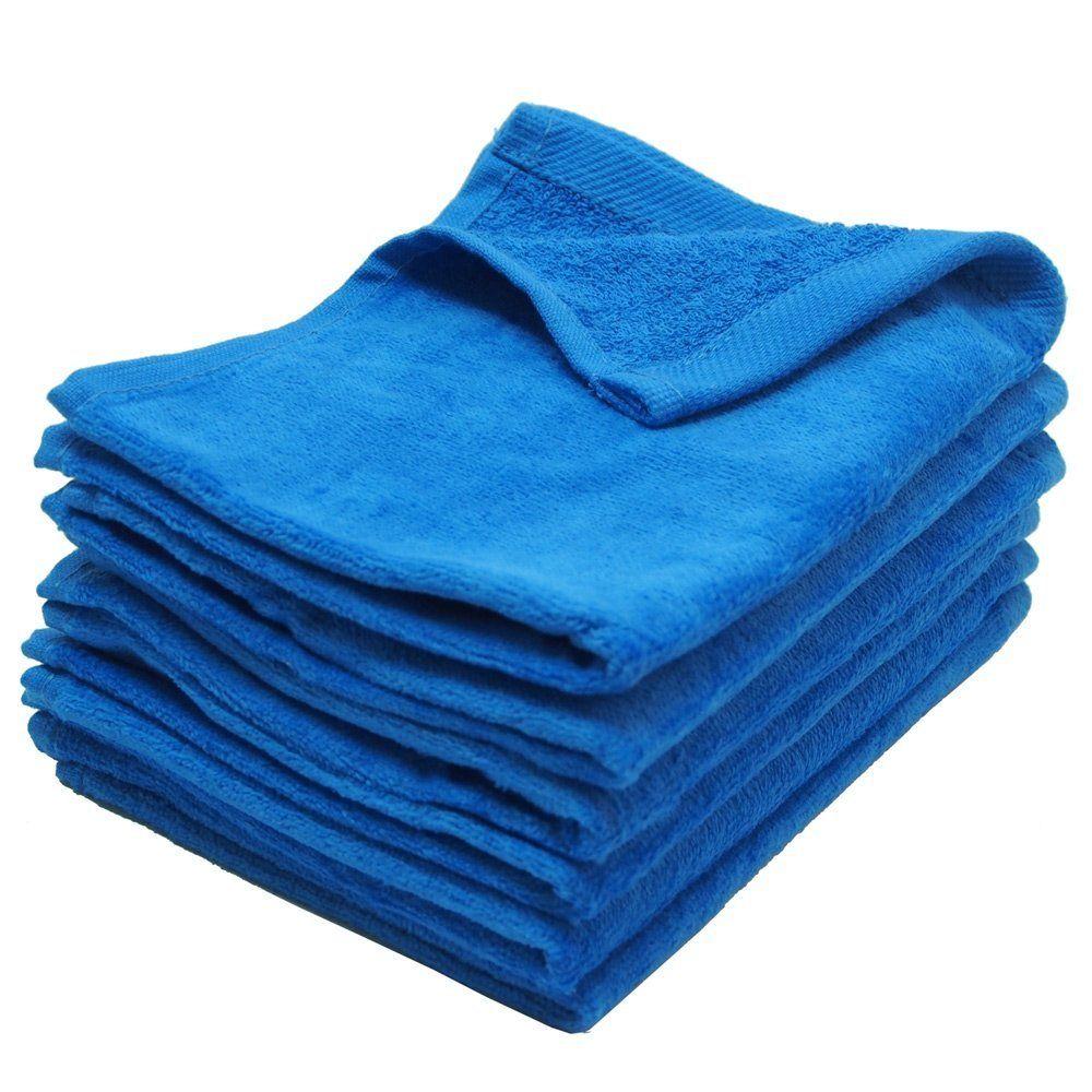11X18 Wholesale Blue Fingertip Towels