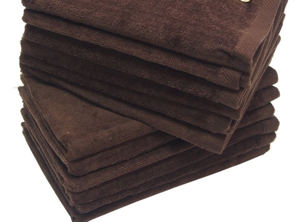 Dark Brown Fingertip Towels Wholesale