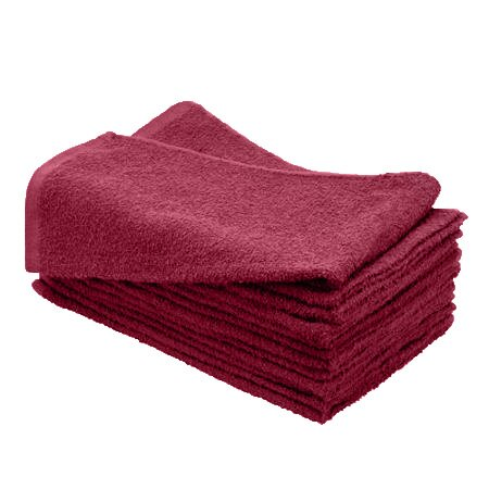 100% Cotton Wholesale Burgundy Bleach Resistant Hand Towels