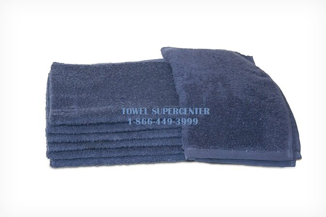 100% Cotton Navy Blue Wholesale Bleach Resistant Hand Towels