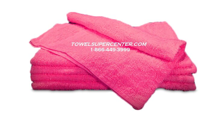Premium 100% Cotton Wholesale Hot Pink Hand Towels