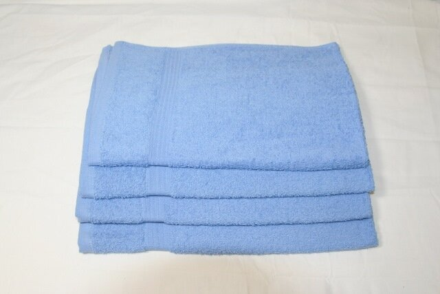 Premium 100% Cotton Wholesale Light Blue Hand Towels