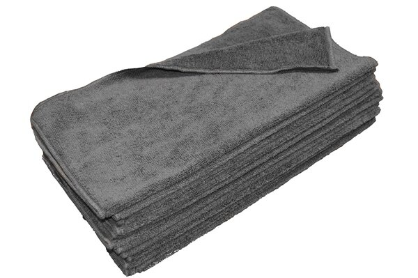 Charcoal Grey Microfiber Towels Wholesale