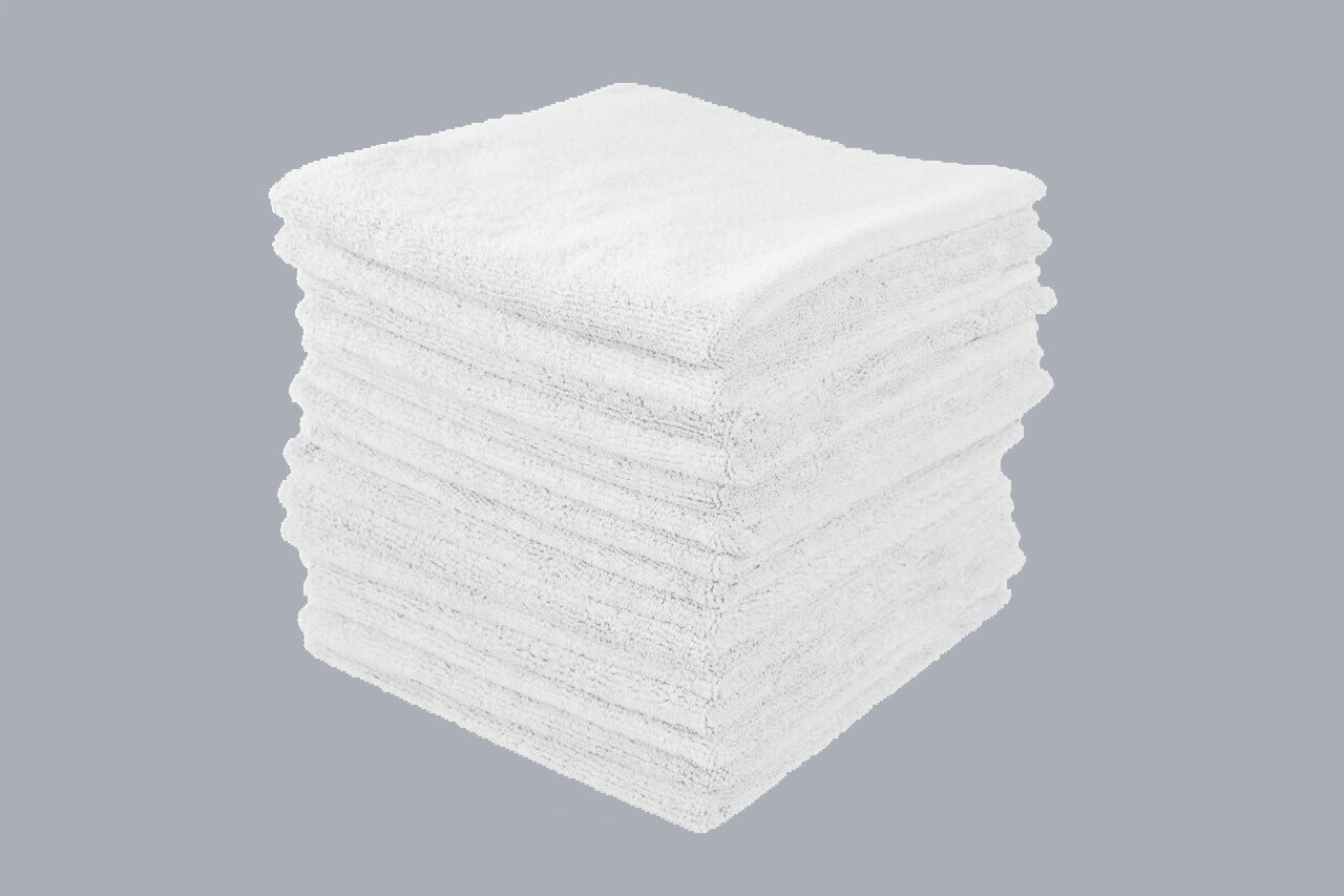White Microfiber Towels Wholesale