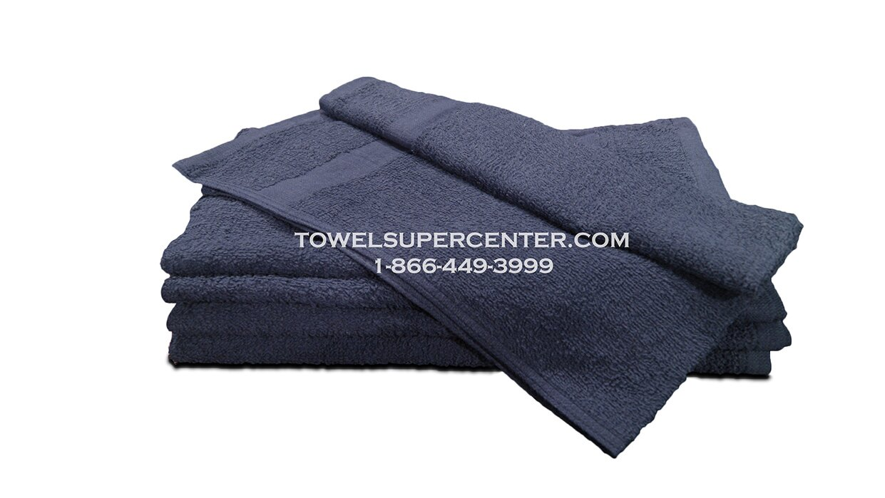 Premium Navy Blue Hand Towels Wholesale