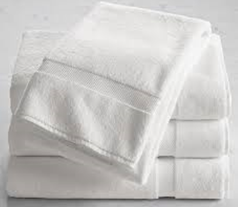 Premium Plus 100% Cotton Wholesale White Bath Towels