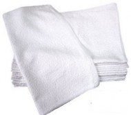 100% Cotton Wholesale Ribbed Bar Mops in White