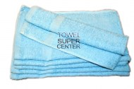 15x25- Premium Aqua Blue hand towels 100% cotton