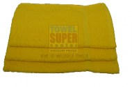 15x25- Premium Yellow hand towels 100% cotton