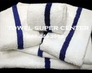 Economy 22X44-Bath towels w/Blue Stripe