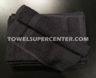 100% Cotton Wholesale Black Hand Towels