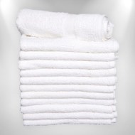 Economy White Hand Towels Cotton Wholesale