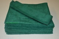 Hunter Green Terry Velour Hand Towels Wholesale