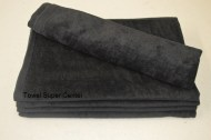 16x26 - Black Terry Velour Hand Towels 100% Cotton