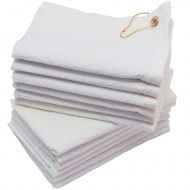 16x26-White Terry Velour Golf towels Corner Grommet
