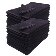 100% Cotton Wholesale Black Bleach Resistant Hand Towels