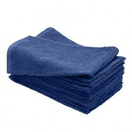 100% Cotton Wholesale Navy Blue Bleach Resistant Hand Towels