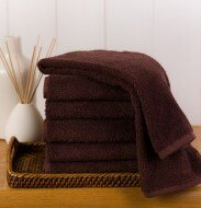 Dark Brown Resistant Hand Towels Wholesale