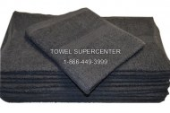 100% Cotton Black Bath Towels