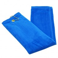 Royal Blue Wholesale Terry Velour Tri-Fold Golf Towels