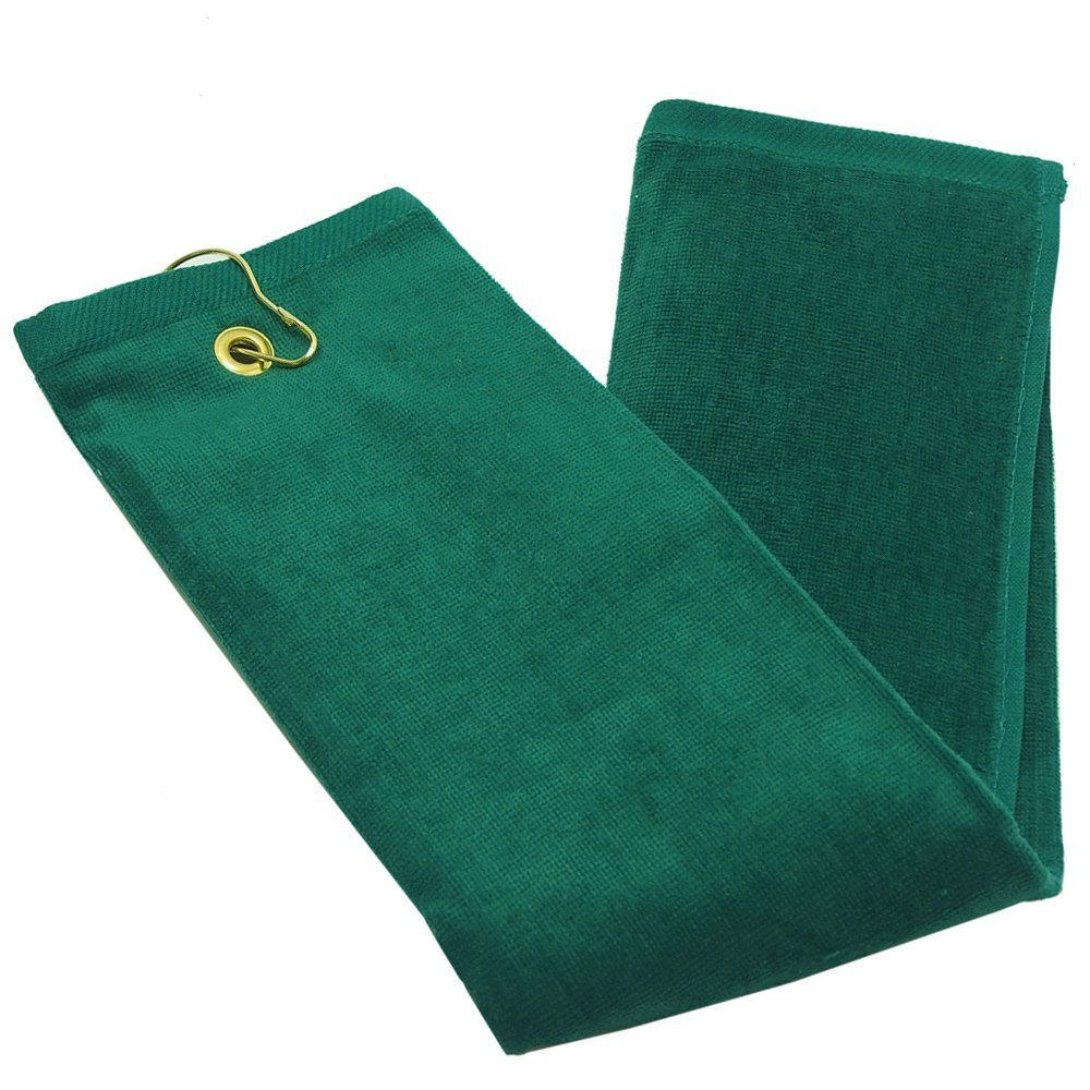 16X26 Wholesale Hunter Green Golf Towels
