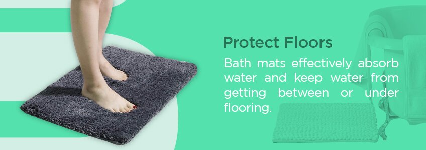 Bath Mats Protect Floors