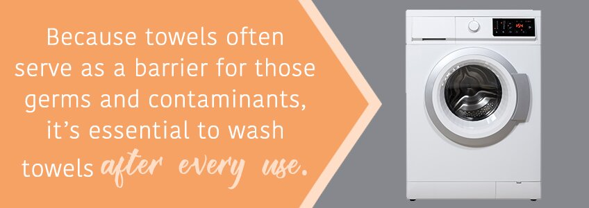 Wash Towels after every use