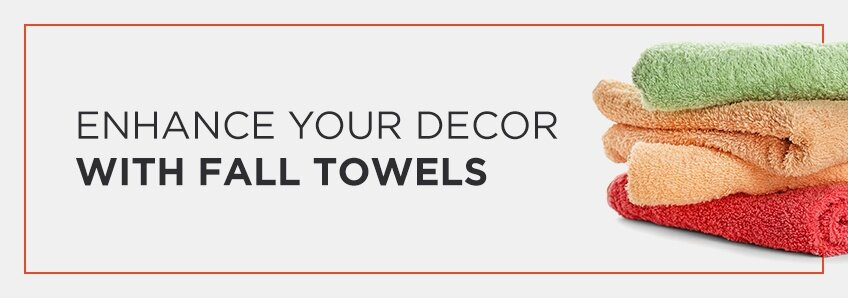 fall decor with towels