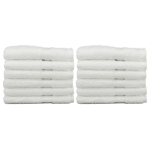 Premium Plus 100% Cotton Wholesale White Washcloths