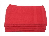 Premium 100% Cotton Wholesale Red Hand Towels