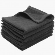 Charcoal Grey Terry Velour Wholesale Hand Towels
