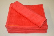 Red Terry Velour Wholesale Hand Towels