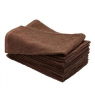 100% Cotton Bleach Resistant Wholesale Dark Brown Hand Towels